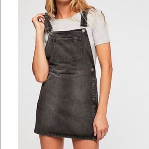 Free people Louise skirtall denim dress overall
